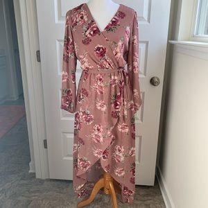 Lily Rose Hi-Lo Wrap dress Size M
